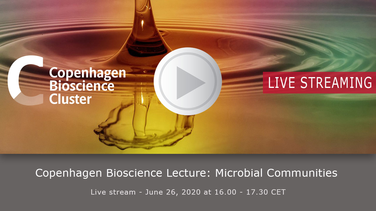 Livestreaming splash screen Novo Nordisk Fonden Copenhagen Bioscience Lecture 2