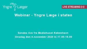 Livestreaming (webinar) om Yngre læger i staten
